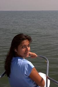 Kiran on the bow.