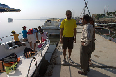 There was no wind whatsoever.  This is where Tariq and Kiran sail out of.
