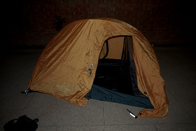 We try out Adil's K2 tent.  Two person, 3 season, but will do if you have good sleeping bags according to Rich.