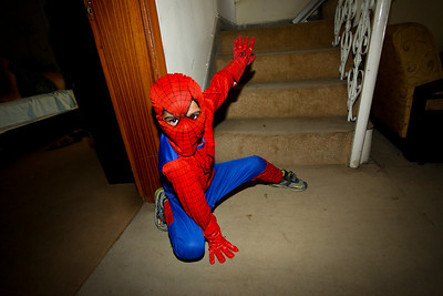 Asad wanted to show me the classic spiderman pose.  He must have practiced.