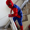 Apparently Spiderman visits out house very often and practices his skill on the staircase...on the outside of it!  Asad in top form