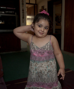 Zainab was trying to show me how to salute but got shy all of a sudden.