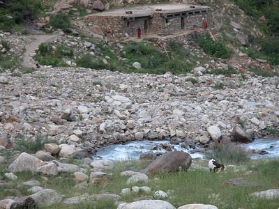 Stone Homes along the mountain side near Naran, Pakistan.