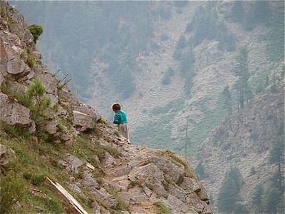 Narrow trail Naran, Pakistan.