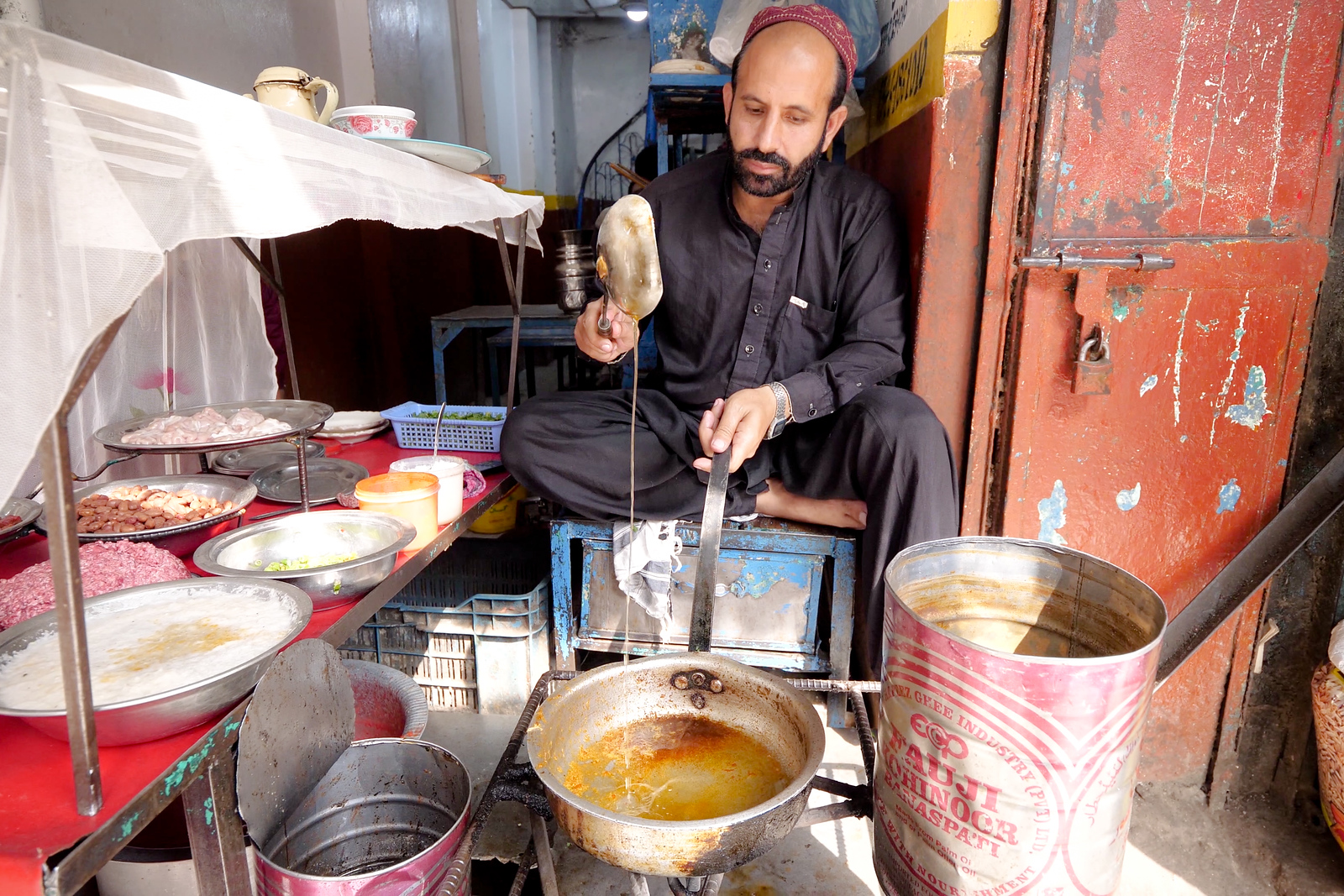 Pakistani street food - brains masala