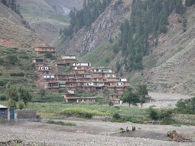 Village home on the mountain side near Kaghan Valley, Pakistan.