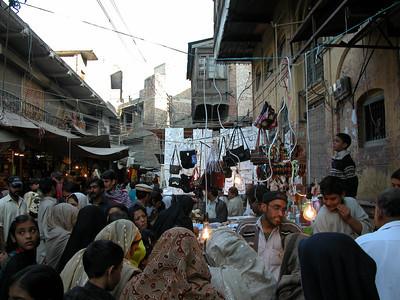 Crowded markets of Rawalpindi, Pakistan.