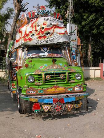 "One of Pakistan's many colorful ""Jingle"" trucks."