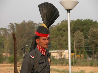 Pakistani Ranger at the Wagah border.