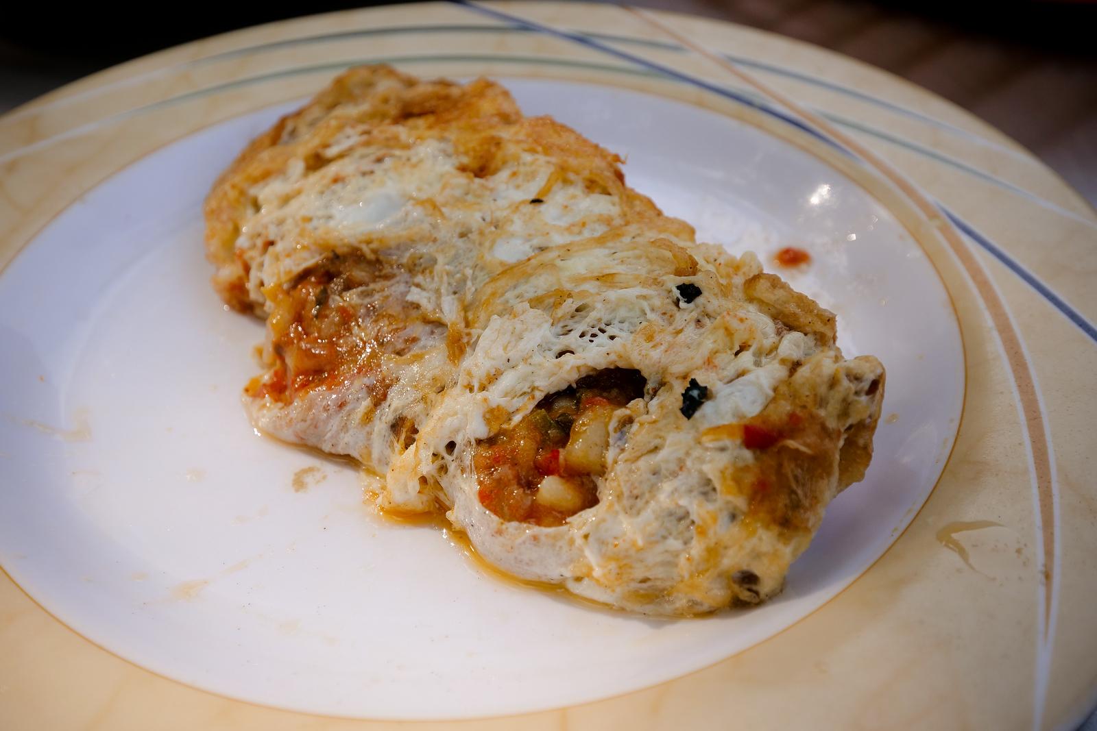 Crisis omelet at Majeed Huts