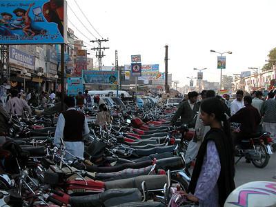 Busy streets of Rawlpindi, Pakistan.