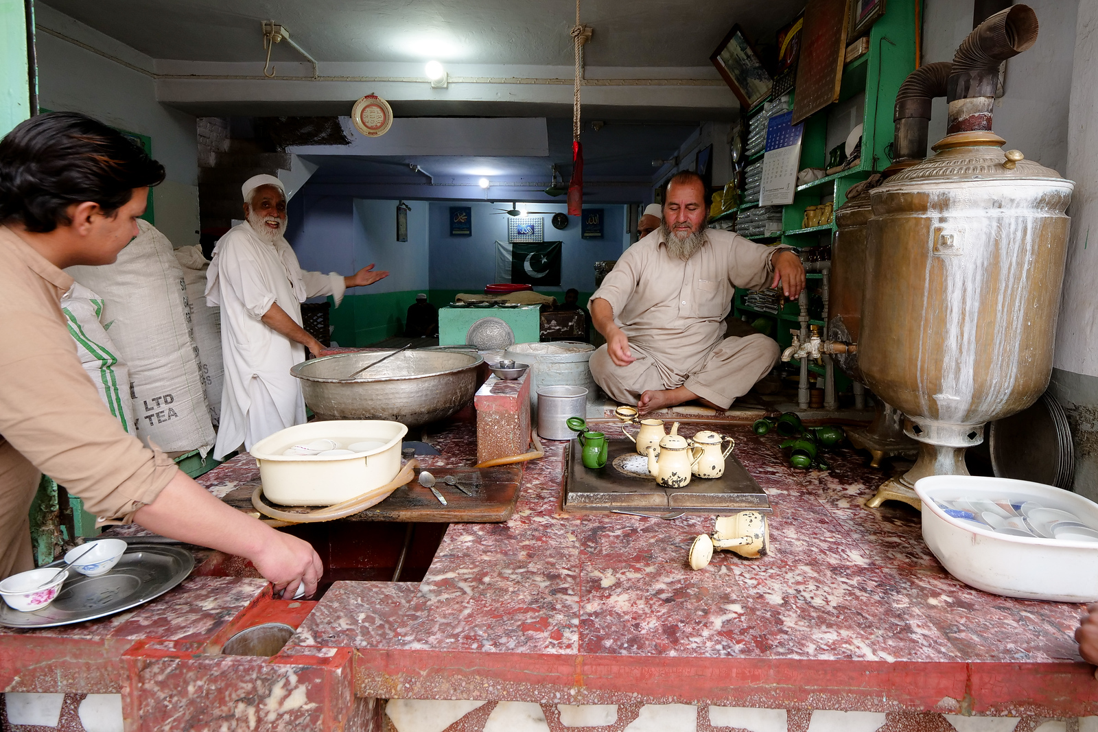 green tea in Peshawar, Pakistan