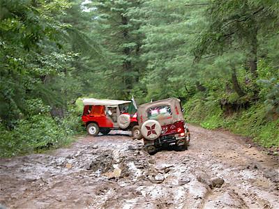 Muddy trails near Naran, Pakistan.