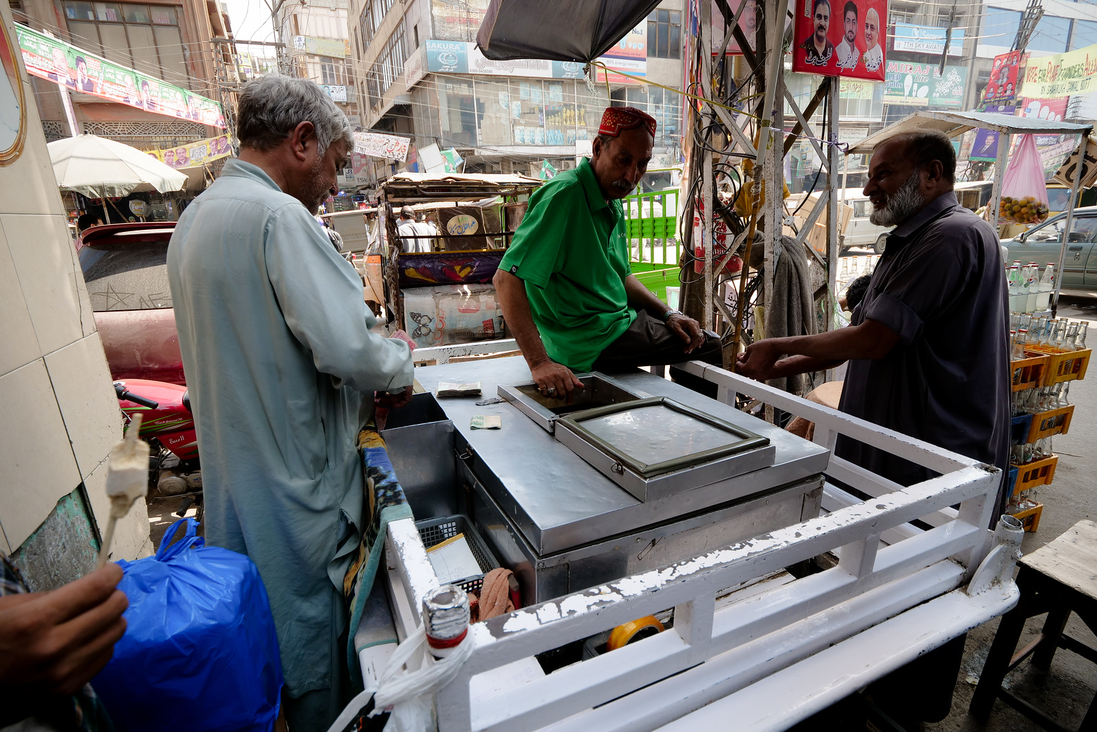 Kulfi carts contain the next treat you just have to eat in Shah Alami market area
