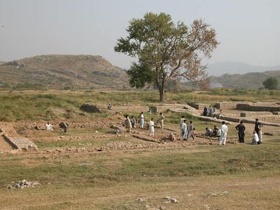 Excavation in progress at the Taxila UNESCO World Heritage site, Pakistan.