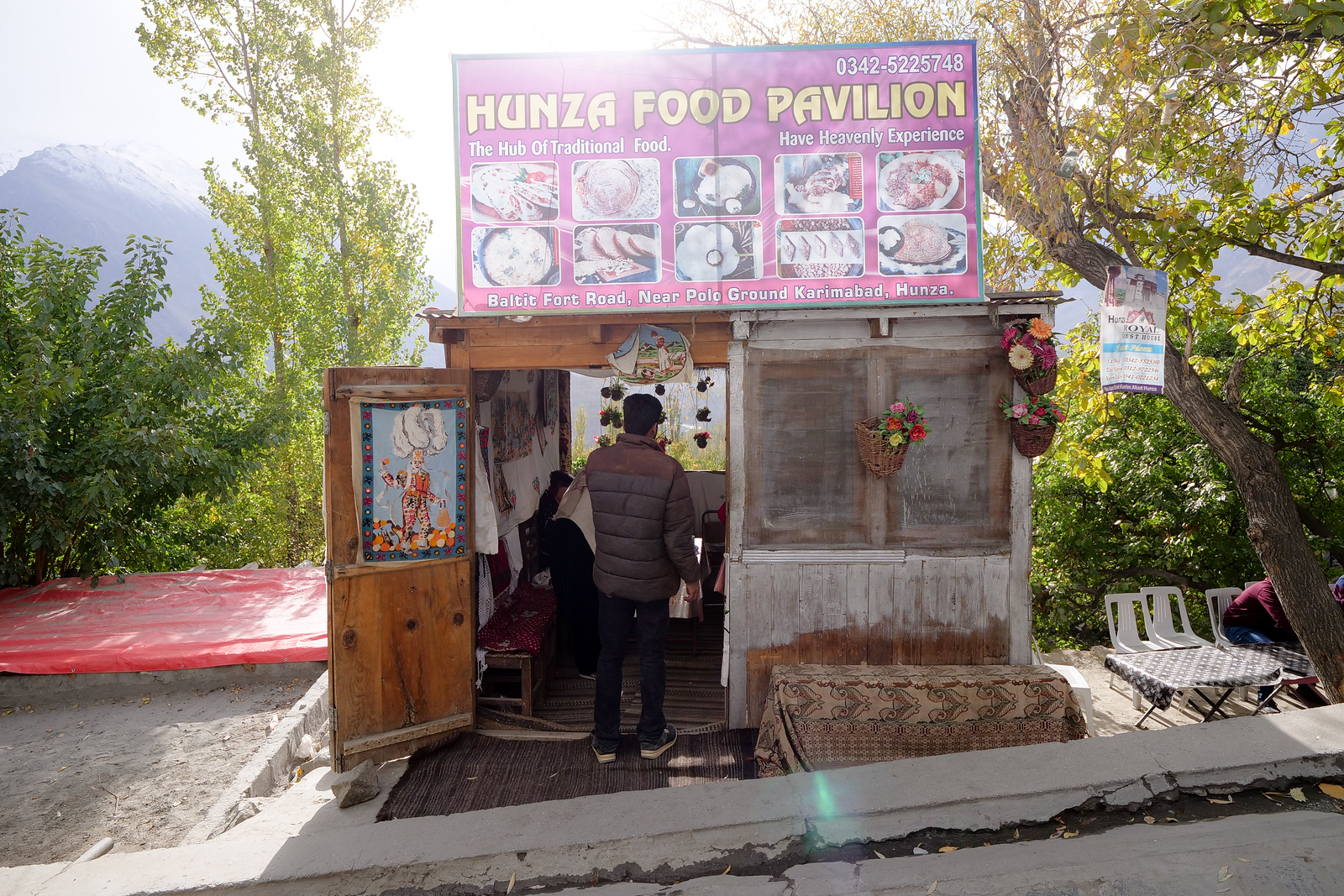 Hunza Food Pavilion in Karimabad