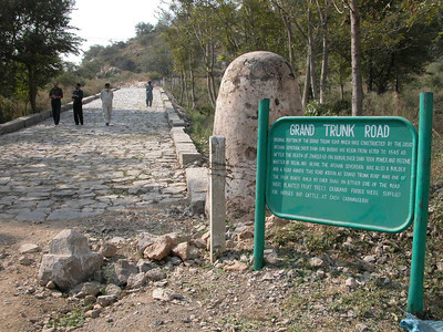 A still in tact section of the ancient Grand Trunk road, Pakistan.
