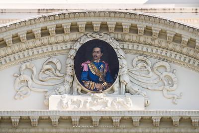 Mosaic Portrait of King Rama V on the Lower Porch of Chakri Maha Prasat Throne Hall, Grand Palace