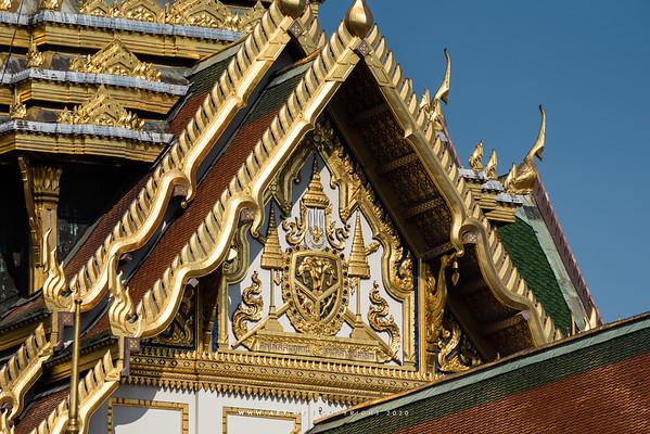State Emblem in the Reign of King Rama V, Chakri Maha Prasat Throne Hall, Grand Palace