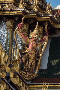 Garuda Holding Nagas, Dusit Maha Prasat Throne Hall, Grand Palace