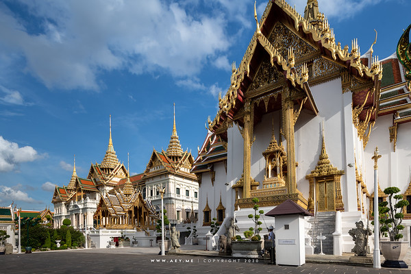 Dusit Maha Prasat Throne Hall, Aphorn Phimok Prasat Pavilion and Chakri Maha Prasat Throne Hall, Grand Palace