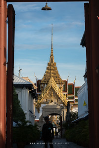 Dusit Maha Prasat Throne Hall, Grand Palace view from Vhiman Dheves Gate