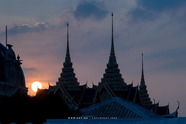 Sunset at Chakkri Maha Prasat Throne Hall, Grand Palace