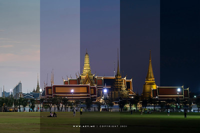 Wat Phra Kaew, Grand Palace view from Sanam Luang