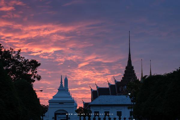 A Morning at Dusit Maha Prasat Throne Hall and Devha Pirom Gate, Grand Palace
