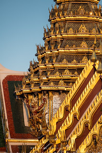 Garuda Holding Nagas, Dusit Maha Prasat Throne Hall, Grand Palace