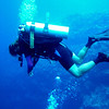 Motionless Diver at our safety stop.