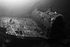 Day 2 Dive #1 (2 of 15): Dove the Fujikawa Maru. The second hold of the ship contains an entire Zero fuselage in it.<br /> (Day 1 we dove the Heian Maru but I did not bring my camera)