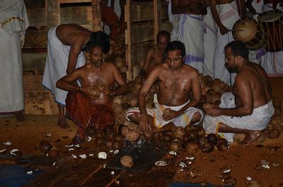 Hindu Ritual of Breaking 12000 Coconuts