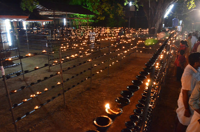 Hindu Ritual of Lighting One Lakh Diya - Oil Lamps