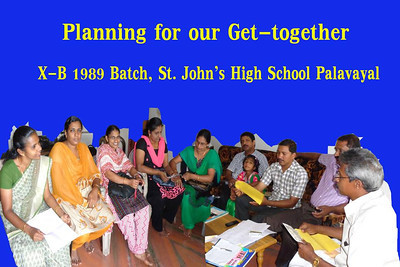 Get Together of St Johns High School Palavayal X-B 1989 Batch after 25 Years