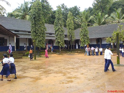 My School and school students in my Village, St. John's High School Palavayal