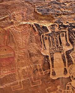 The Three Kings panel details - 400 mm McConkie Ranch, Dry Fork Canyon, Utah