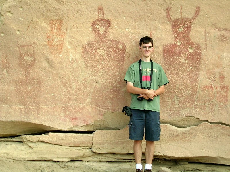Nate Heuer (19). Petroglyphs near Crescent Junction, Utah.