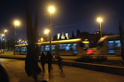 light rail + family, jerusalem