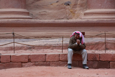 at the treasury in petra