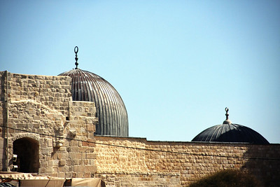 Al-Aqsa Mosque, from the Western Wall, Jerusalem