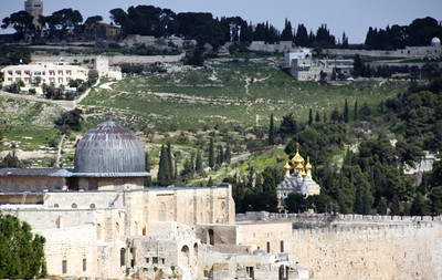 View of Mount of Olives from Al-Haram al-Sharif, Jerusalem
