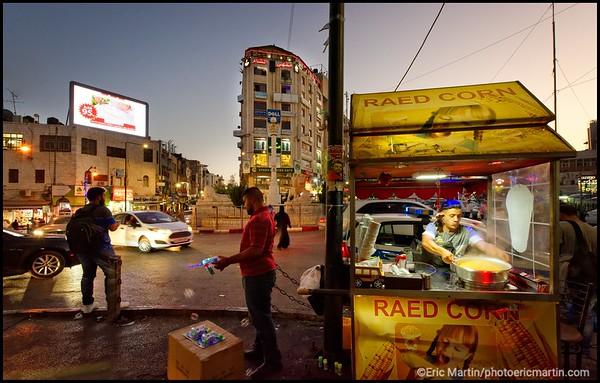 ISRAEL. PALESTINE. VILLE DE RHAMALLAH; Place El-Manara, lieu de toutes les manifestations