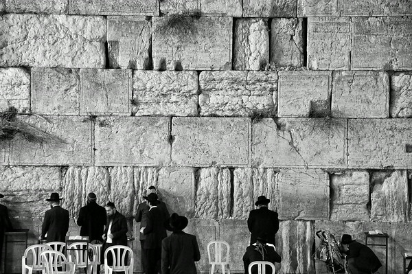 Prayer at the Western Wall - The Old City in Jerusalem, Palestine / Israel