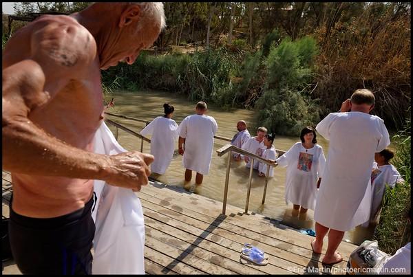 ISRAEL. PALESTINE. SITE DU BAPTEME DU CHRIST AU BORD DU JOURDAIN