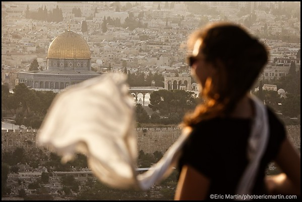 ISRAEL. PALESTINE. VIEILLE VILLE DE JERUSALEM. MONT DU ROCHER. Jérusalem-Est, secteur palestinien, vue depuis le Mont des Oliviers