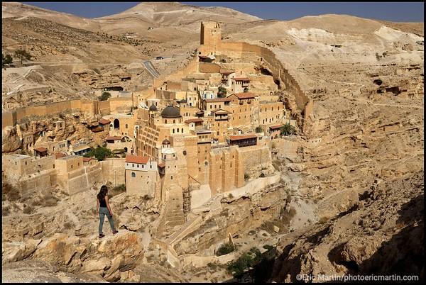 ISRAEL. PALESTINE Le monastère orthodoxe Mar Saba situé dans le désert de Judée, en Cisjordanie. C'est un des plus anciens monastères chrétiens.