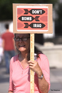 As Obama decides on a course of action on Iraq we were @ the White House to tell him hands off.