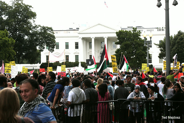 National March on the White House to condemn the Israeli massacre in Gaza. 8/2/14
