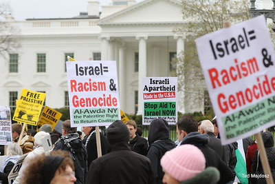 We marched from the White House to the D.C. Convention Center where AIPAC was holding their annual meeting.